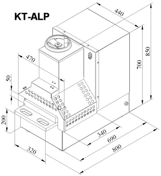 Dimensional drawing KT-ALP
